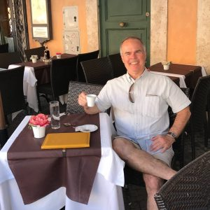 Relaxing at the Piazza