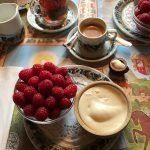 Raspberries With Double Creme Fraiche
