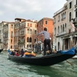 Gondoleer on the Grand Canal